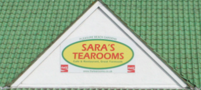 Sara's Tearooms Building Sign
