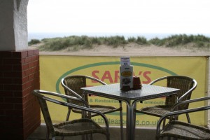 Alfresco Dining on Sara's Tearooms Beach Terrace