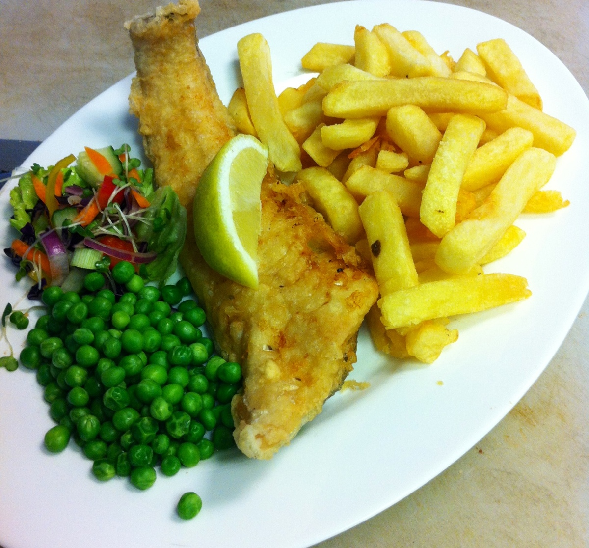 Fresh Cod & Chips in our Homemade Batter