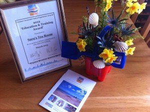 Sara's Tearooms - Winner of the GYTA 2012 Education & Training Award